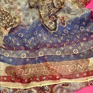Louis Vuitton silk scarf.